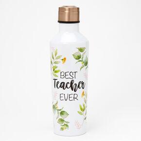 Best Teacher Ever Water Bottle - White,