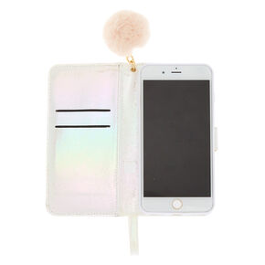 Blush Faux Fur Folio Phone Case - Pink,