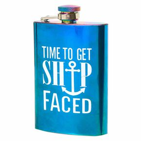 Ship Faced Flask,