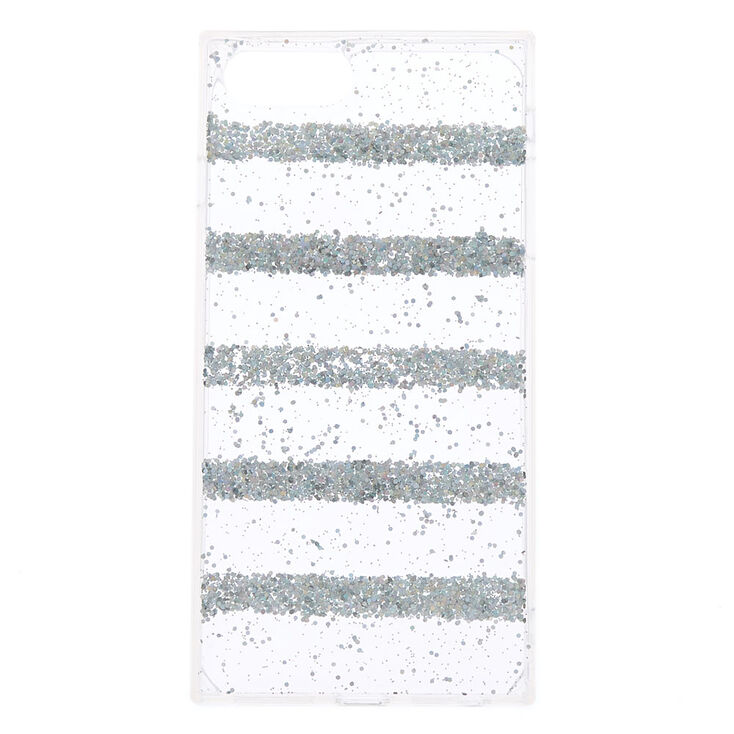 Holographic Striped Glitter Phone Case,