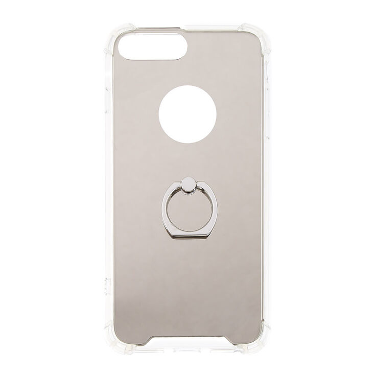 Mirrored Ring Holder Protective Phone Case - Fits iPhone 6/7/8 Plus,