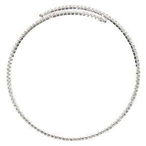 Crystal Coil Choker Necklace,