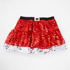 Sequin Santa Holiday Tutu - Red,