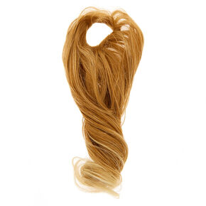 Long Curly Faux Hair Tie - Blonde,