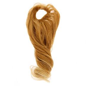 Long Curly Faux Hair Tie - Blonde,