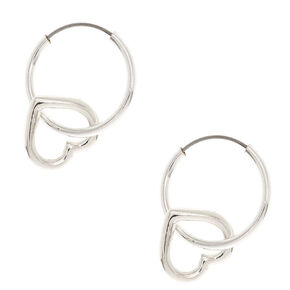 12MM Heart Hoop Earrings,