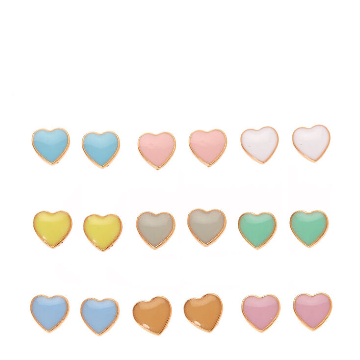 Pastel Heart Multi Set Studs,