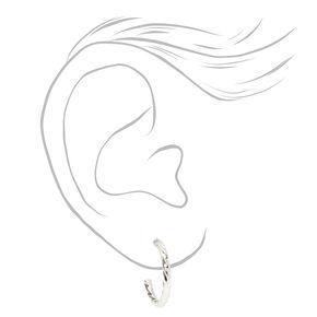 Silver Pretty Pink Stud & Hoop Earrings - 20 Pack,