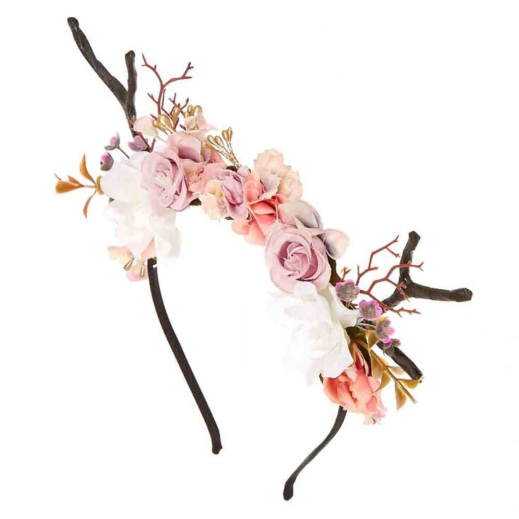 Deer Antler Flower Crown Headband,