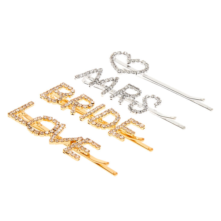 Bridal Crystal Hair Pins - 4 Pack,
