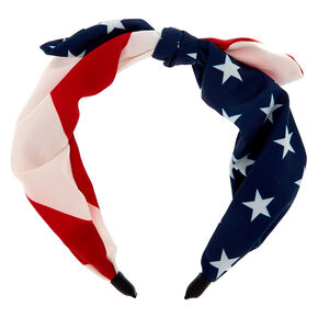 American Flag Knotted Headband,