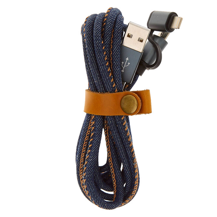 Denim USB 2-in-1 USB Cord,