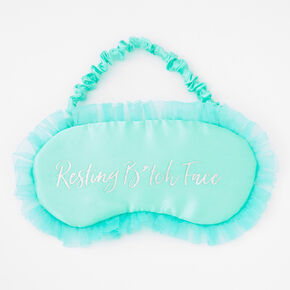 Resting B*tch Face Ruffled Sleeping Mask - Mint,