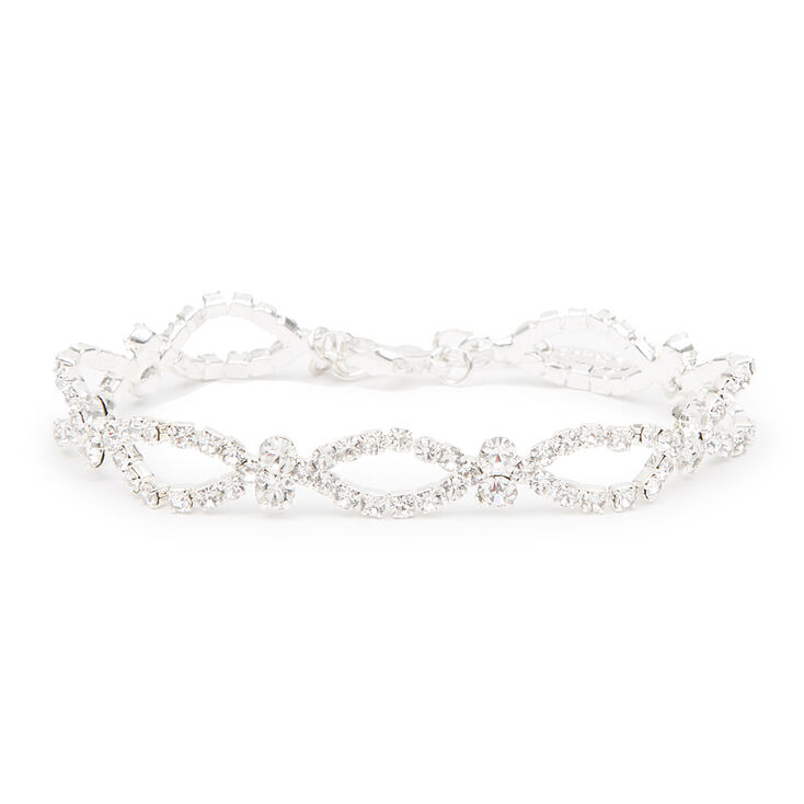 Rhinestone Marquis Outlines & Crystals Bracelet,