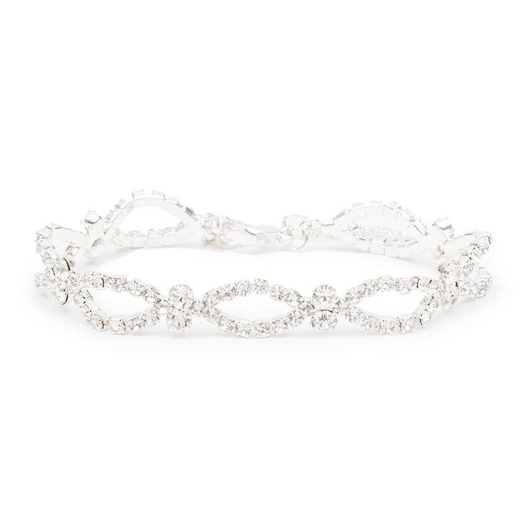 Rhinestone Marquis Outlines & Crystals Bracelet,
