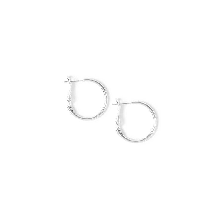 Small Silver Hoop Earrings,