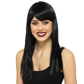 Black Medium Length Wig,