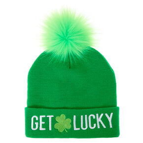 Get Lucky Beanie Hat - Green,
