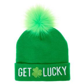 Get Lucky Beanie Hat - Green,