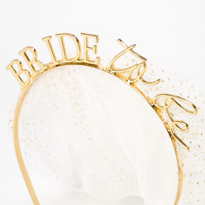 Gold Bride To Be Veil Headband,