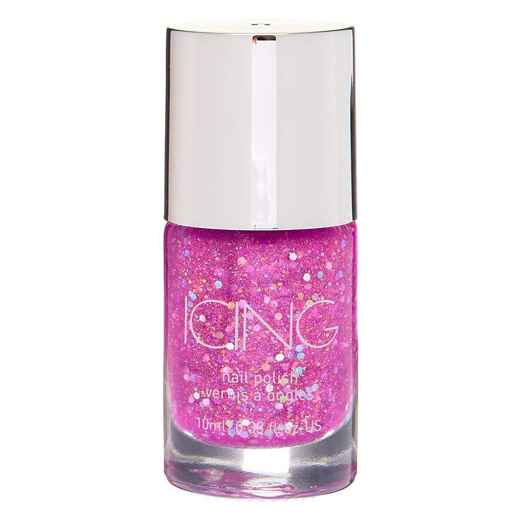 Glitter Nail Polish - Neon Purple,