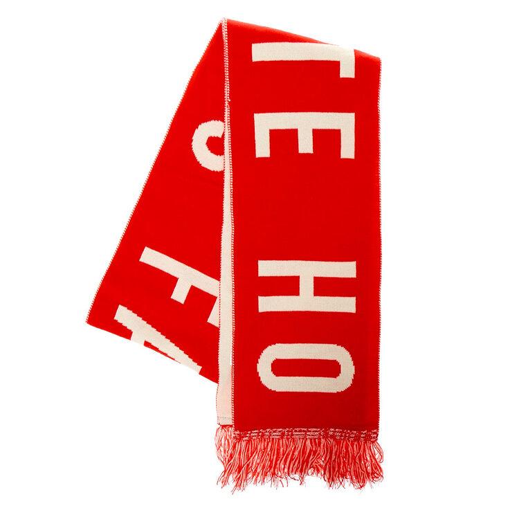 Santa's Favorite Ho Scarf - Red,