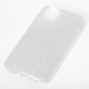 Silver Glitter Protective Phone Case - Fits iPhone 11,