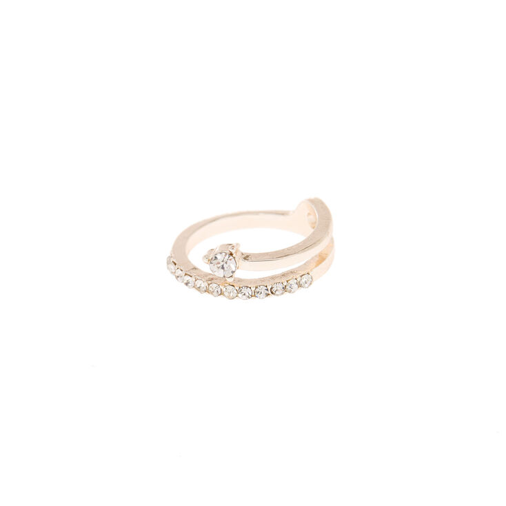 Delicate Rose Gold Crystal Toe Ring,