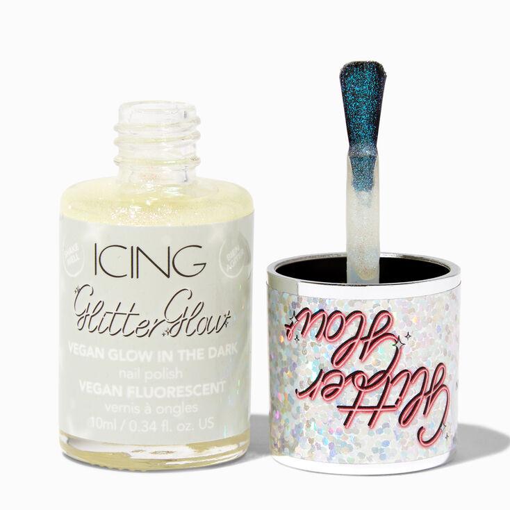 Crystal Studded Silver Tone Chain Ear Cuff,