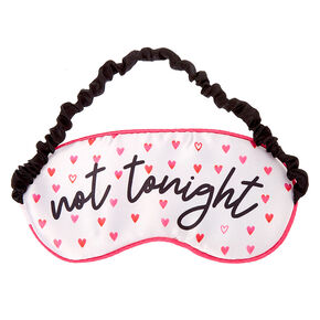 Tonight or Not Tonight Hearts Sleeping Mask - Pink,