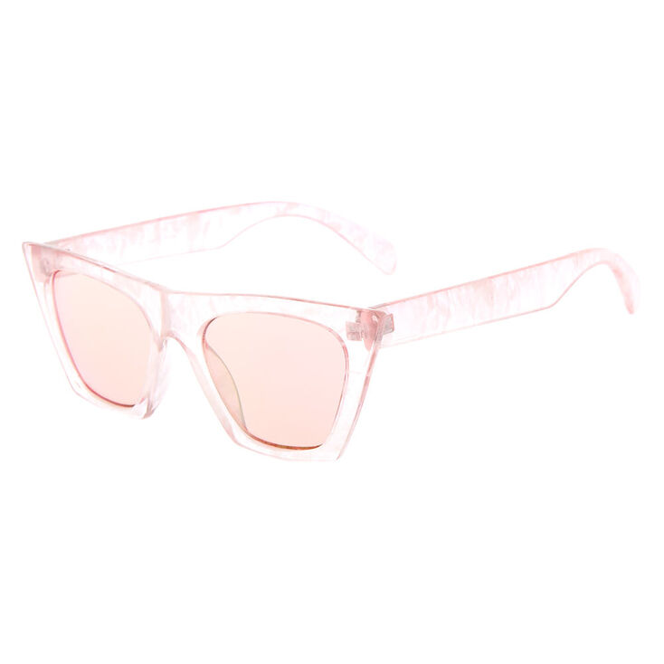 1950s Sunglasses & 50s Glasses | Retro Cat Eye Sunglasses Icing Cat Eye Marble Sunglasses - Pink $14.99 AT vintagedancer.com