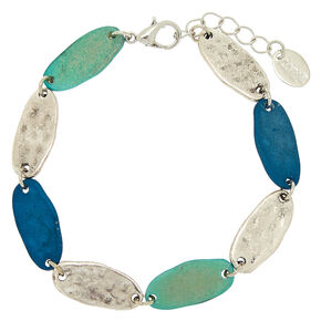 Silver Mixed Patina Chain Bracelet,