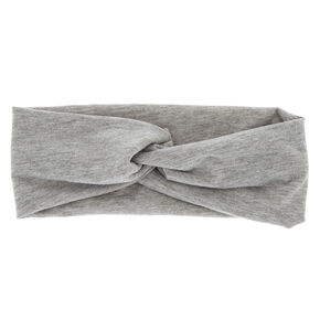 Wide Jersey Marled Headwrap - Gray,