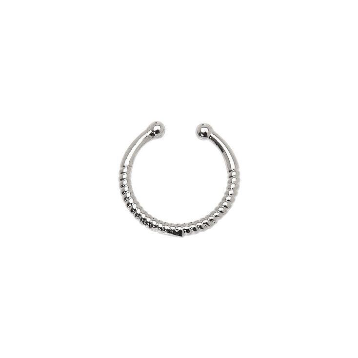 Silver Spring Faux Hoop Nose Ring,