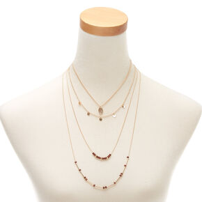 Gold Island Hopper Multi Strand Necklace,