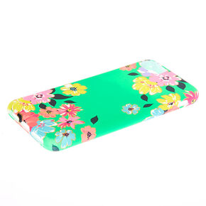 Green Floral Phone Case - Fits Iphone 6/7/8,