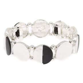 Silver Half Moon Stretch Bracelet,