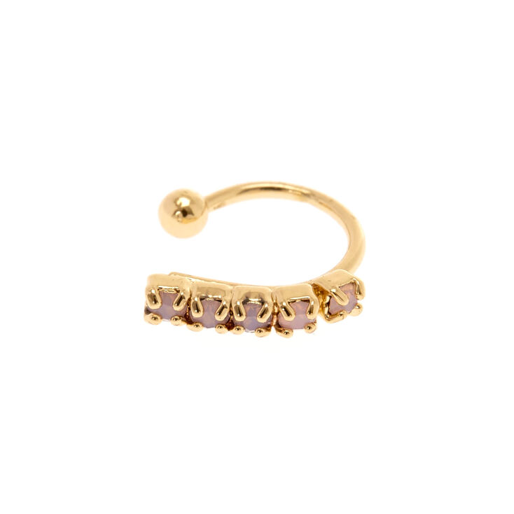 Faux Gold Opal Nose Ring,