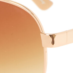 Snake Print Aviator Sunglasses - Gold,