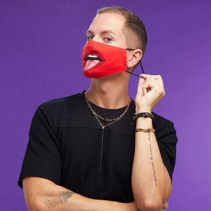 Cotton Red Devil Face Mask - Adult,