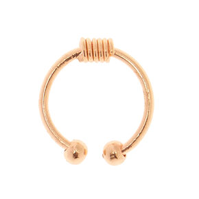 Rose Gold Coil Faux Septum Ring,