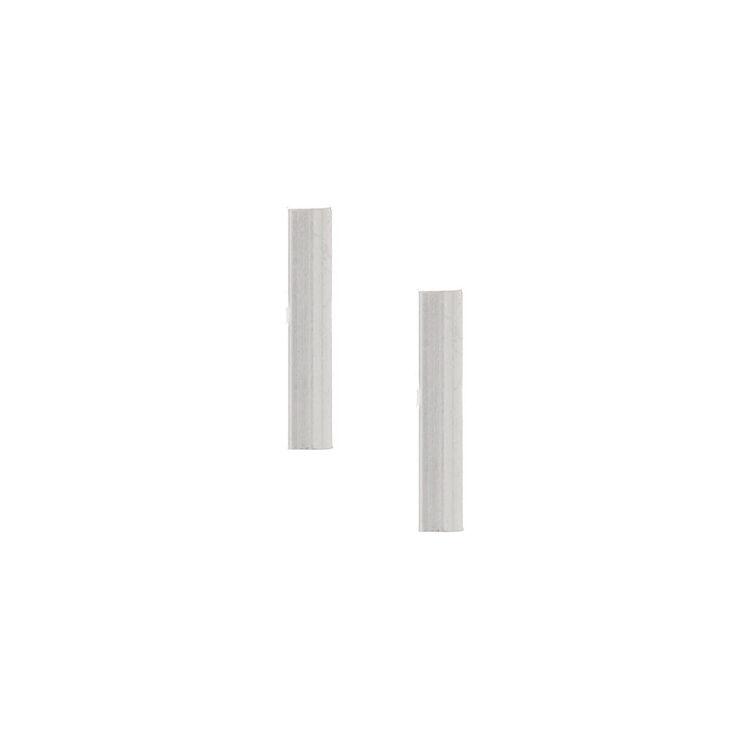 Sterling Silver Metal Bar Stud Earrings,