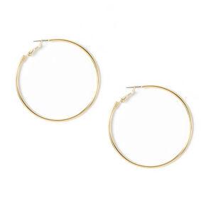 Simple Gold Hoop Earrings,