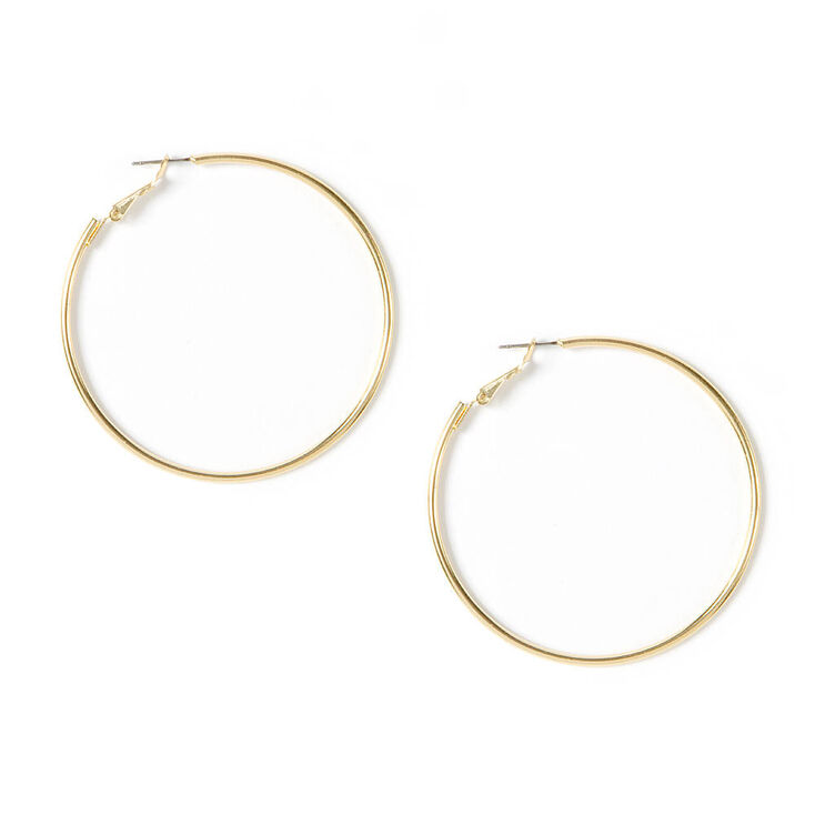 Simple Gold Hoop Earrings,