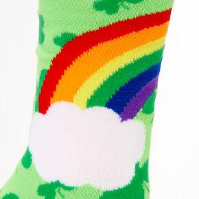 Rainbow Pot O' Gold Crew Socks - Green,
