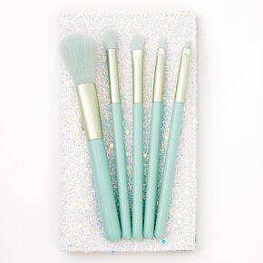 Mint Green Makeup Brush Set - 5 Pack,