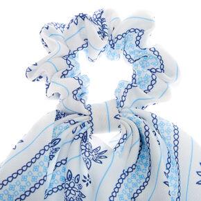 Prairie Scarf Hair Scrunchie - White,