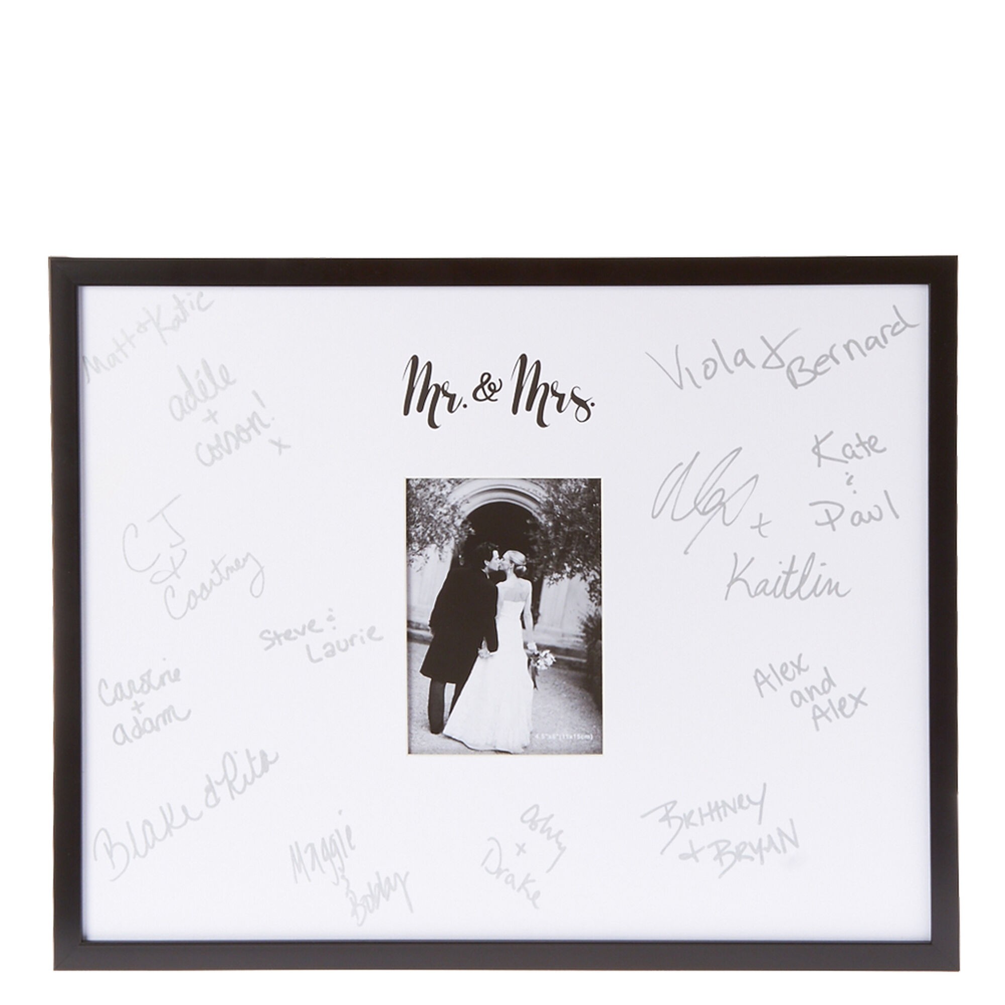 Mr. & Mrs. Autograph Photo Frame | Icing US