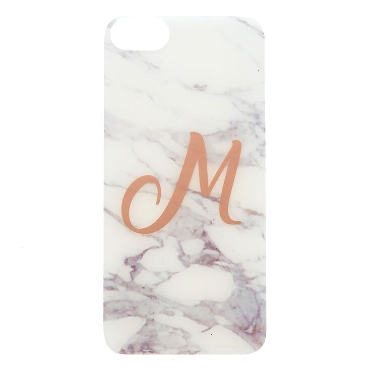 """Marbled """"M"""" Initial Phone Case,"""