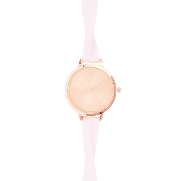 Rose Gold & White Wristwatch,